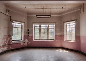 Pink meeting room